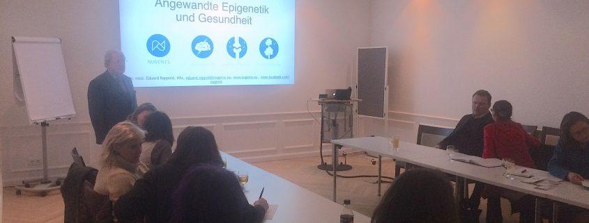 NUGENIS Vortrag Angewandte Epigenetik und Gesundheit Gesundheitszentrum Hamerlingpark