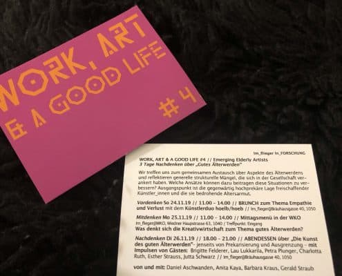 Work, Art & A Good Life #4